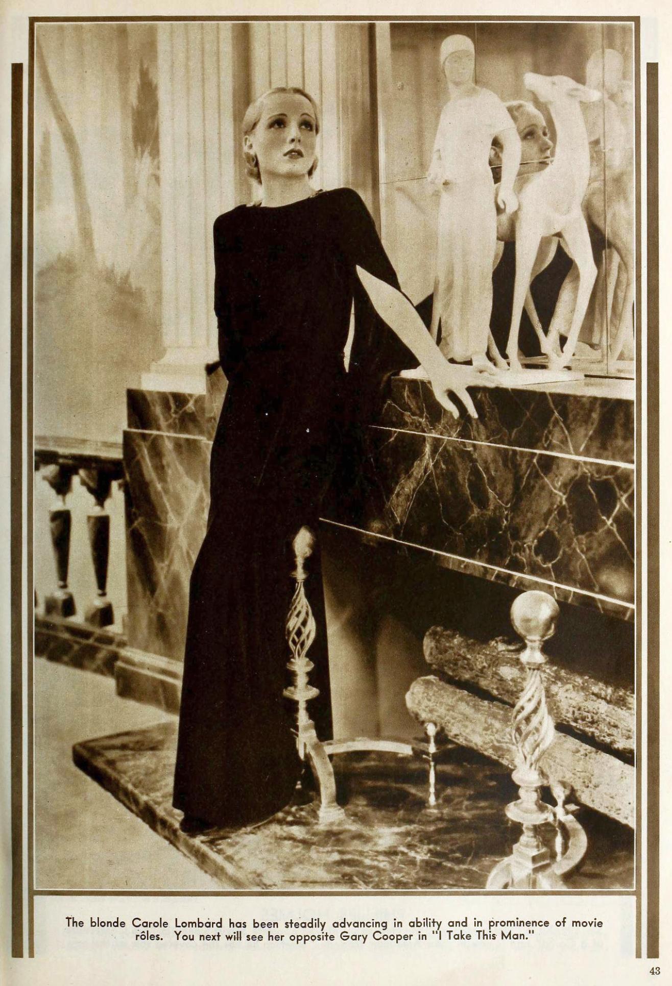 carole lombard the new movie magazine august 1931aa