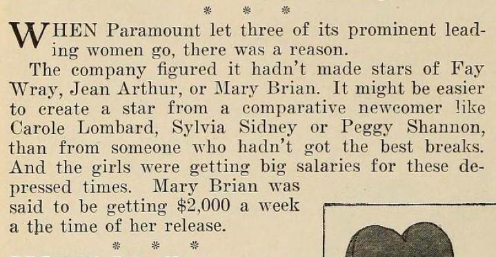 carole lombard the new movie magazine august 1931ba
