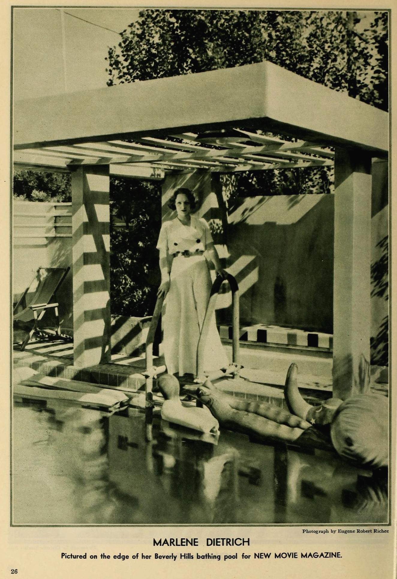 the new movie magazine august 1931 marlene dietrich large