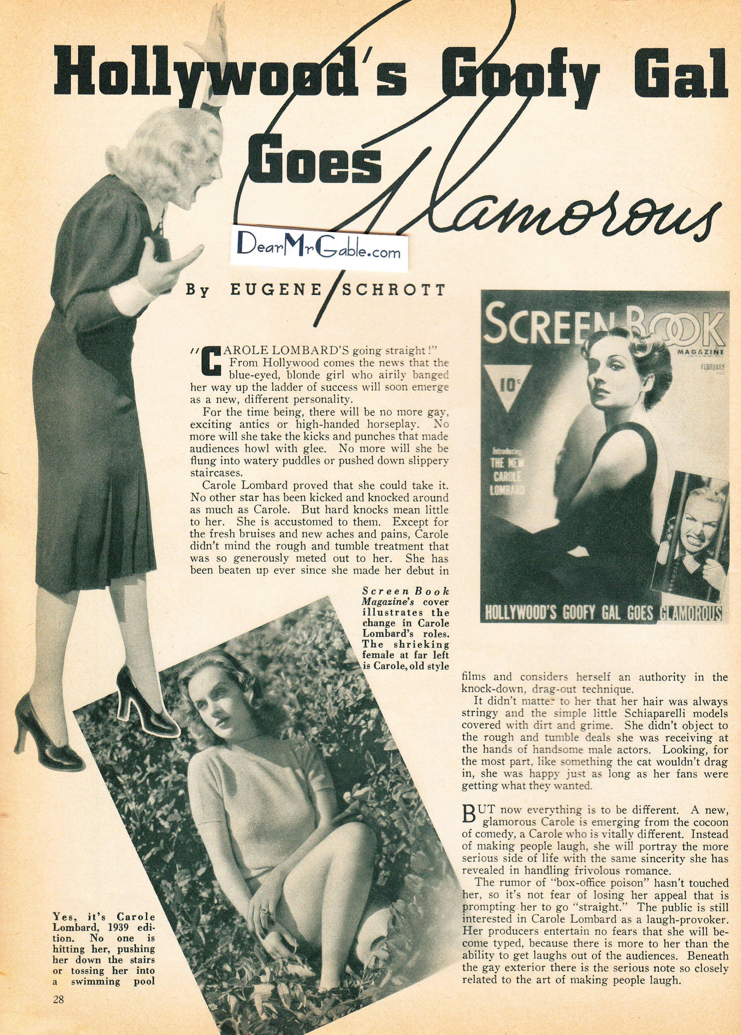 carole lombard screen book february 1939aa