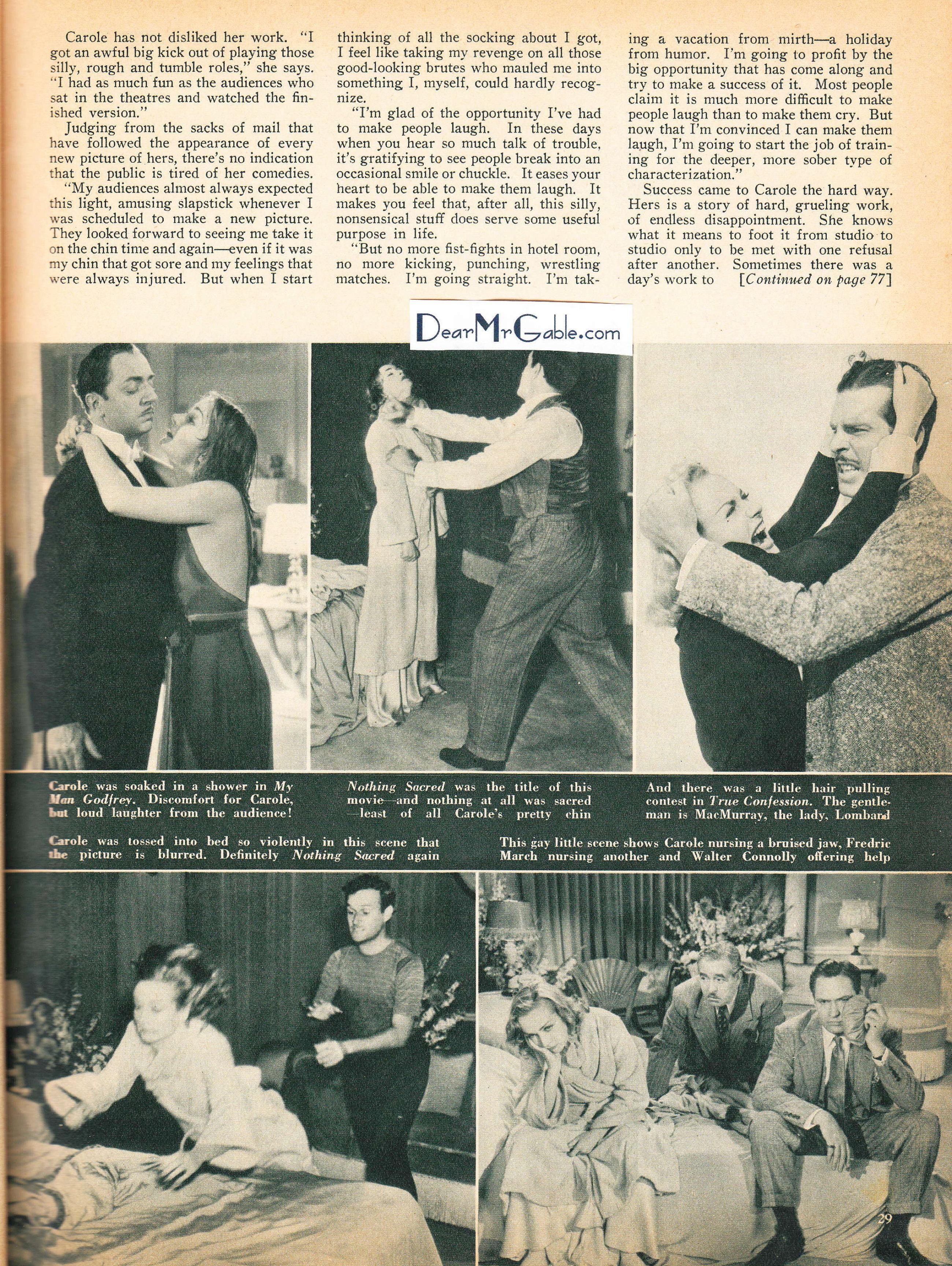 carole lombard screen book february 1939ba