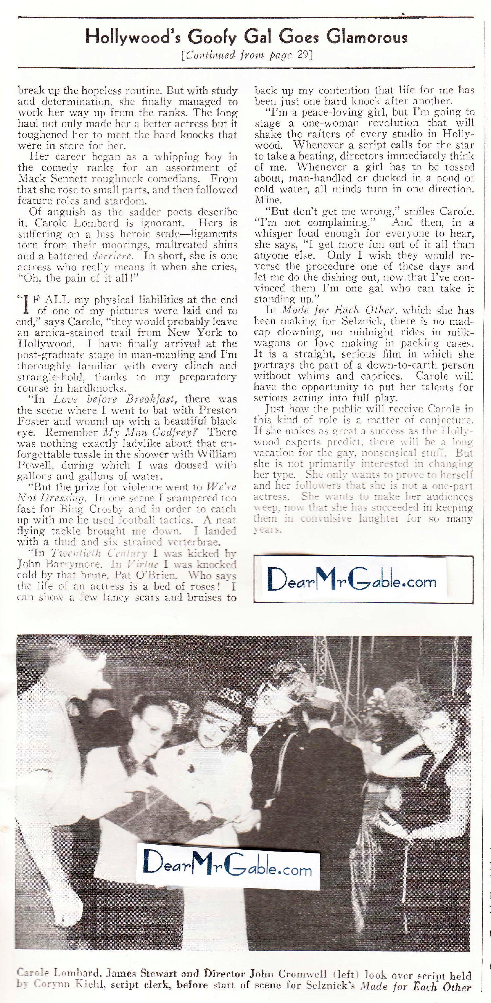 carole lombard screen book february 1939ca