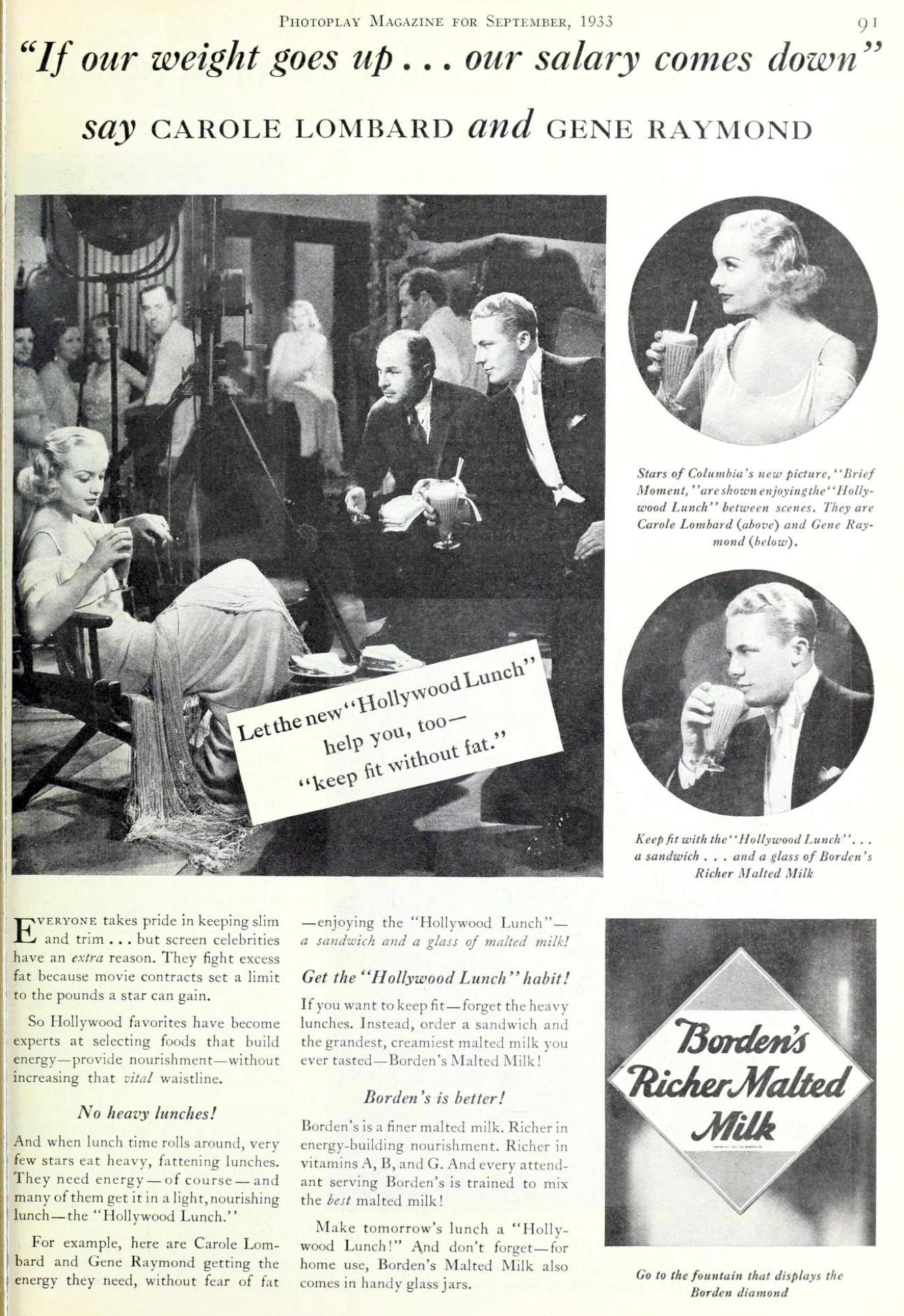 carole lombard photoplay september 1933da