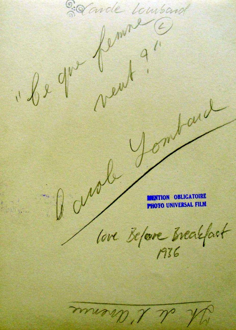 carole lombard love before breakfast 24a back