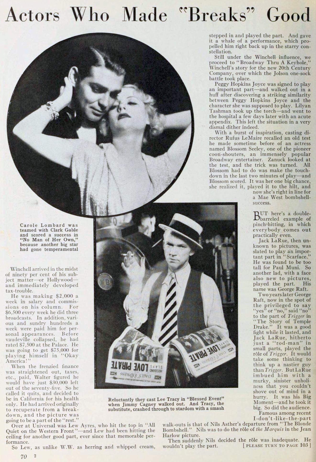 carole lombard photoplay january 1934ka