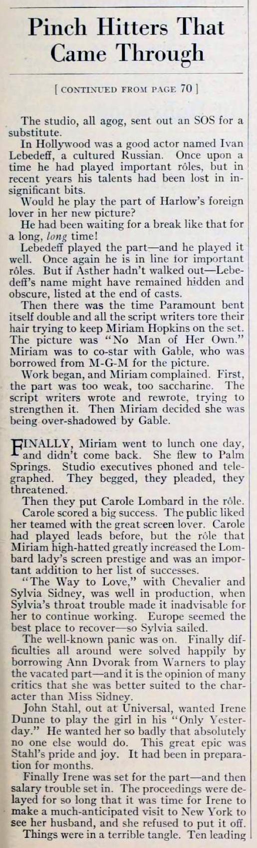 carole lombard photoplay january 1934la