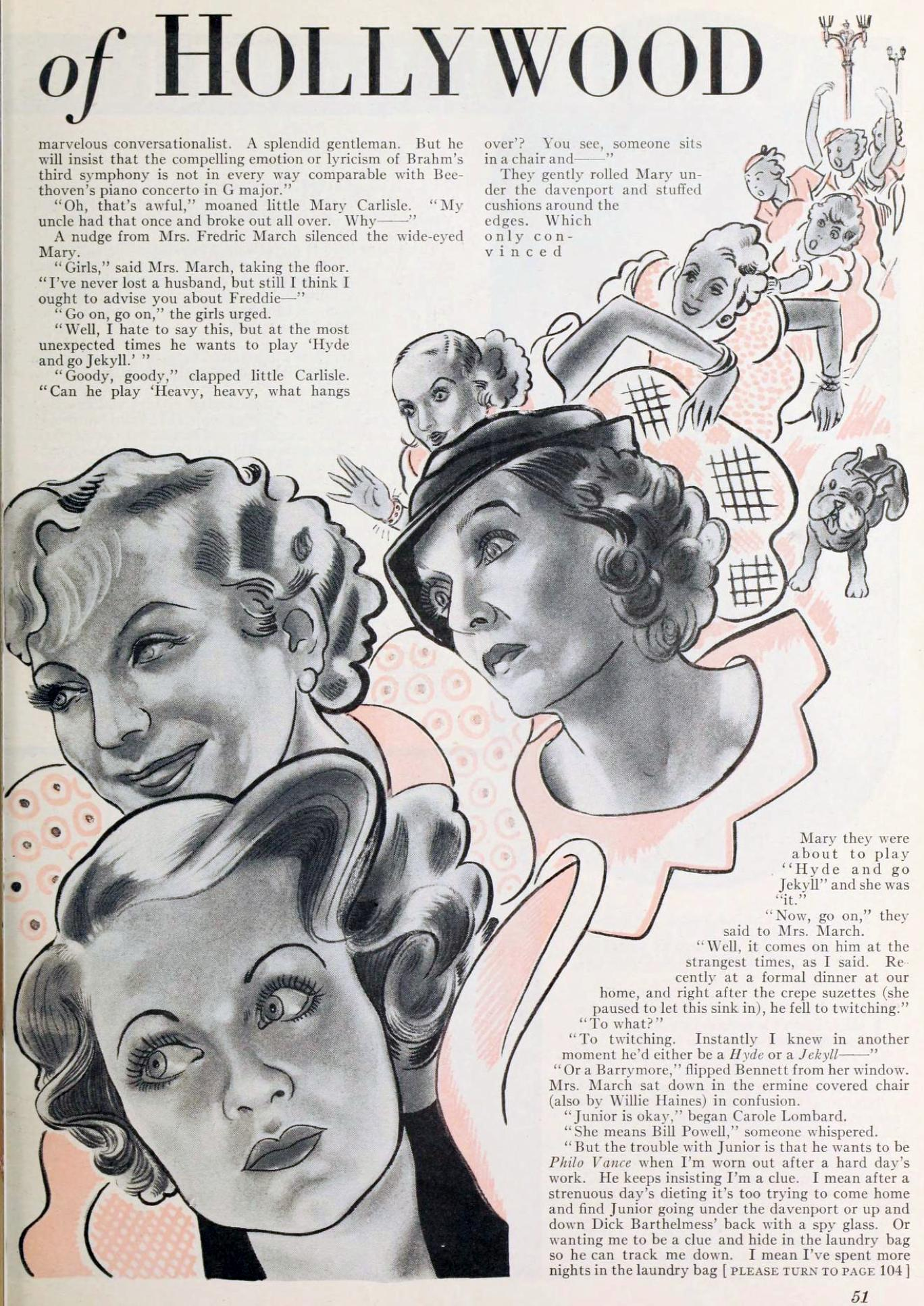 carole lombard photoplay january 1934ba