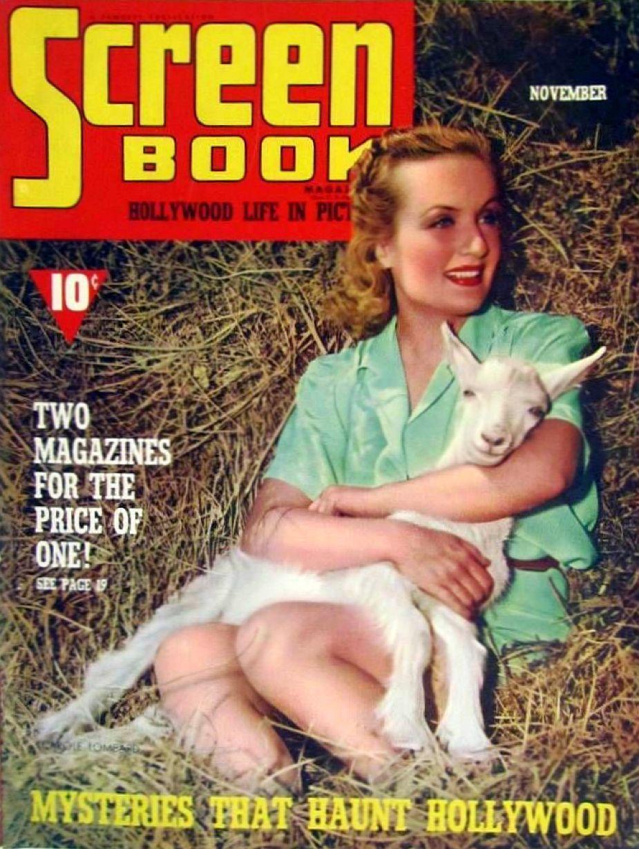 carole lombard screen book november 1939b cover