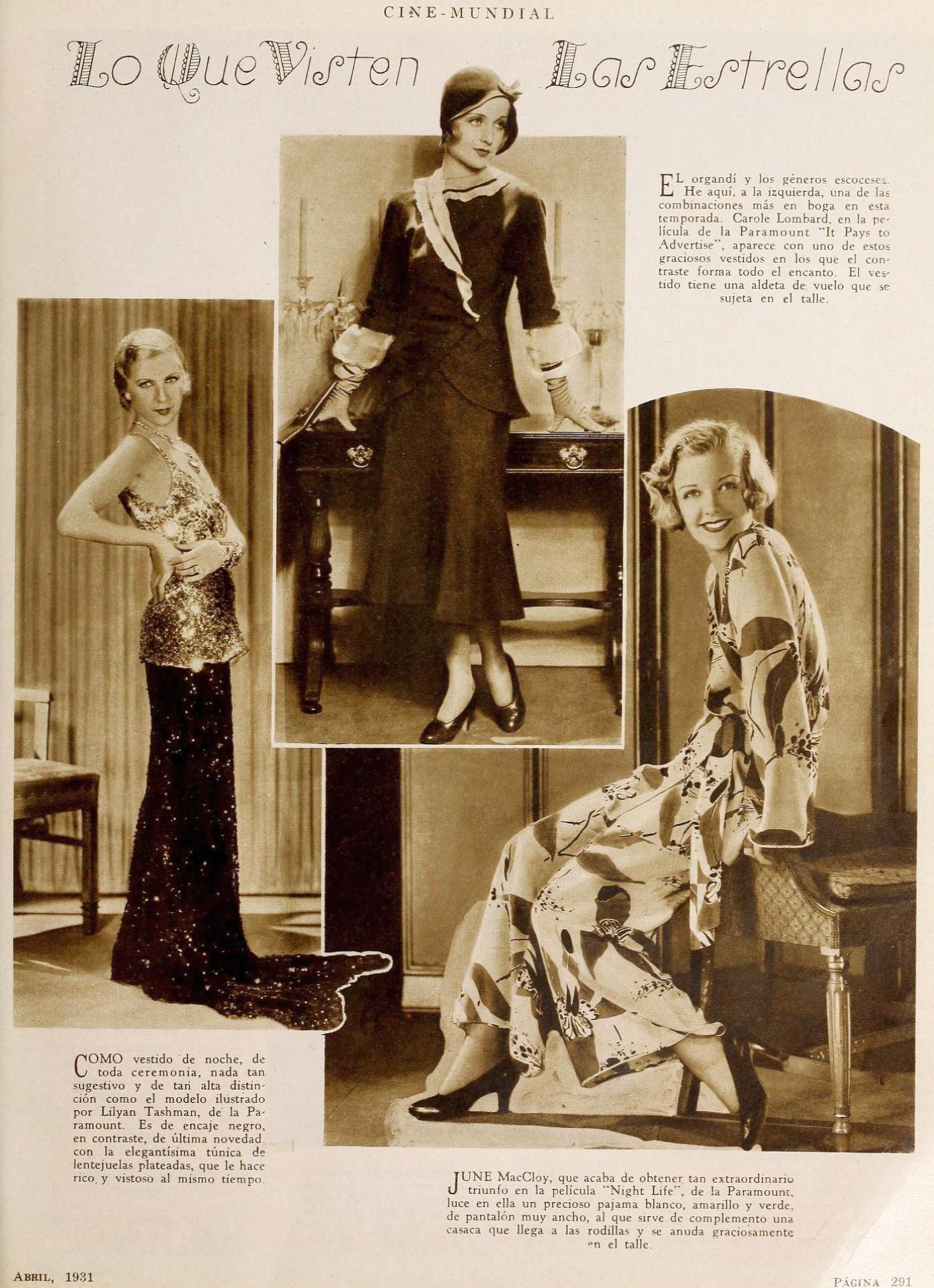 carole lombard cine mundial april 1931bb