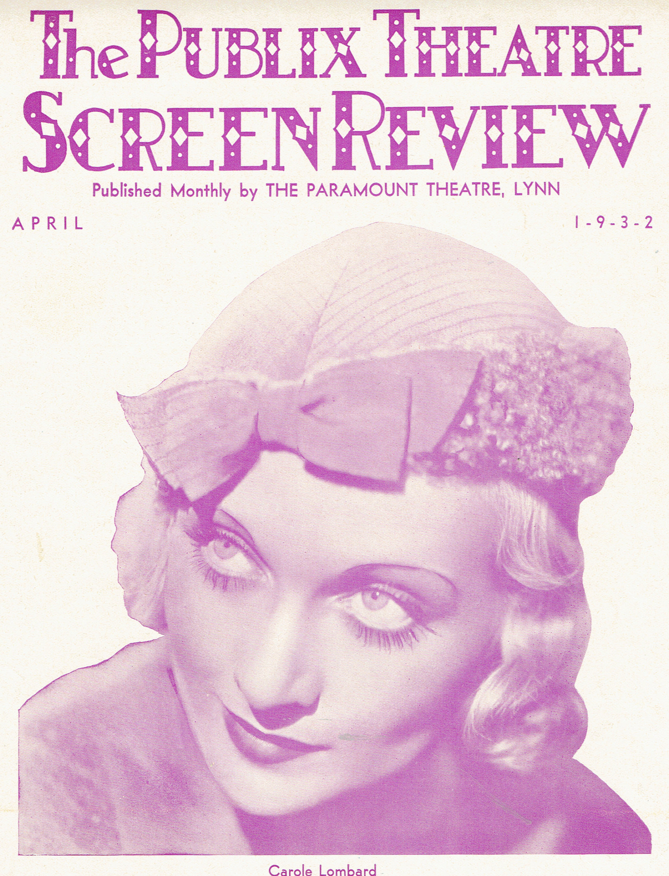 carole lombard publix theatre screen review april 1932ab