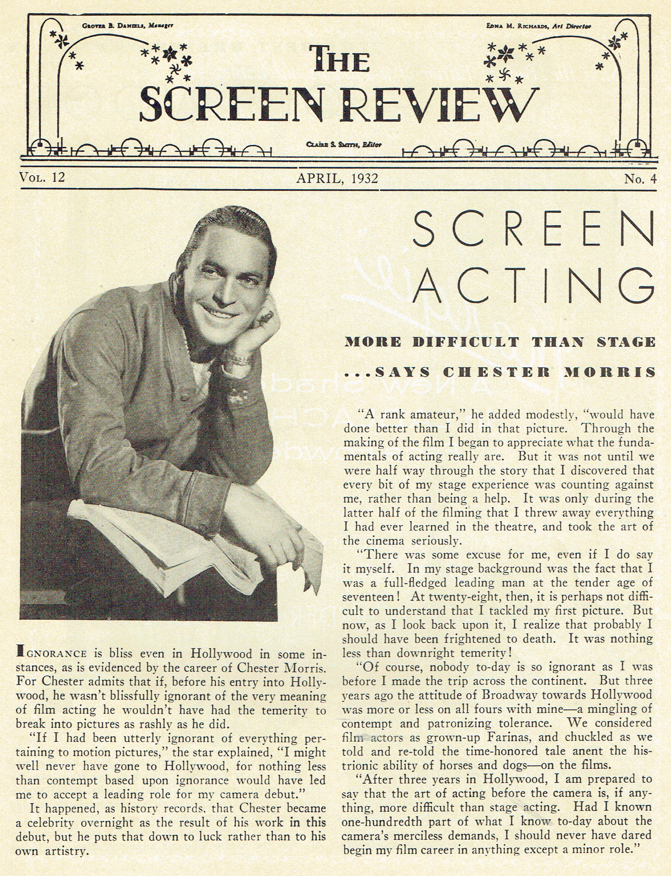 carole lombard publix theatre screen review april 1932ca