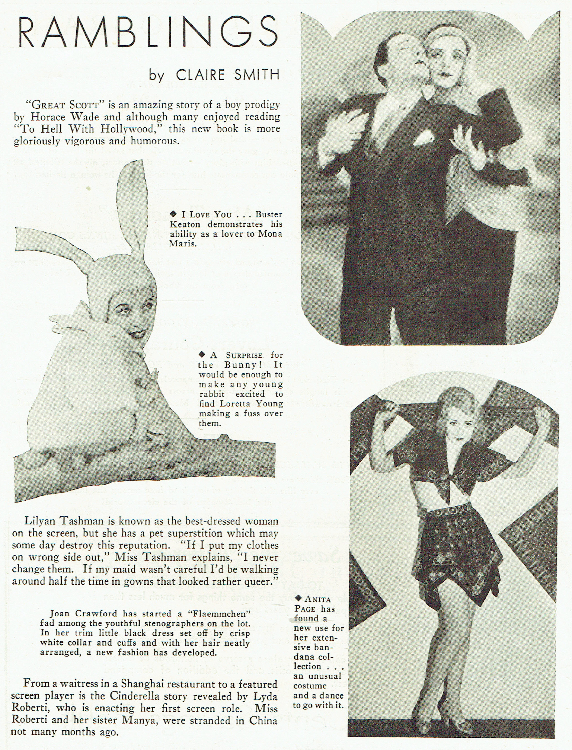carole lombard publix theatre screen review april 1932ga