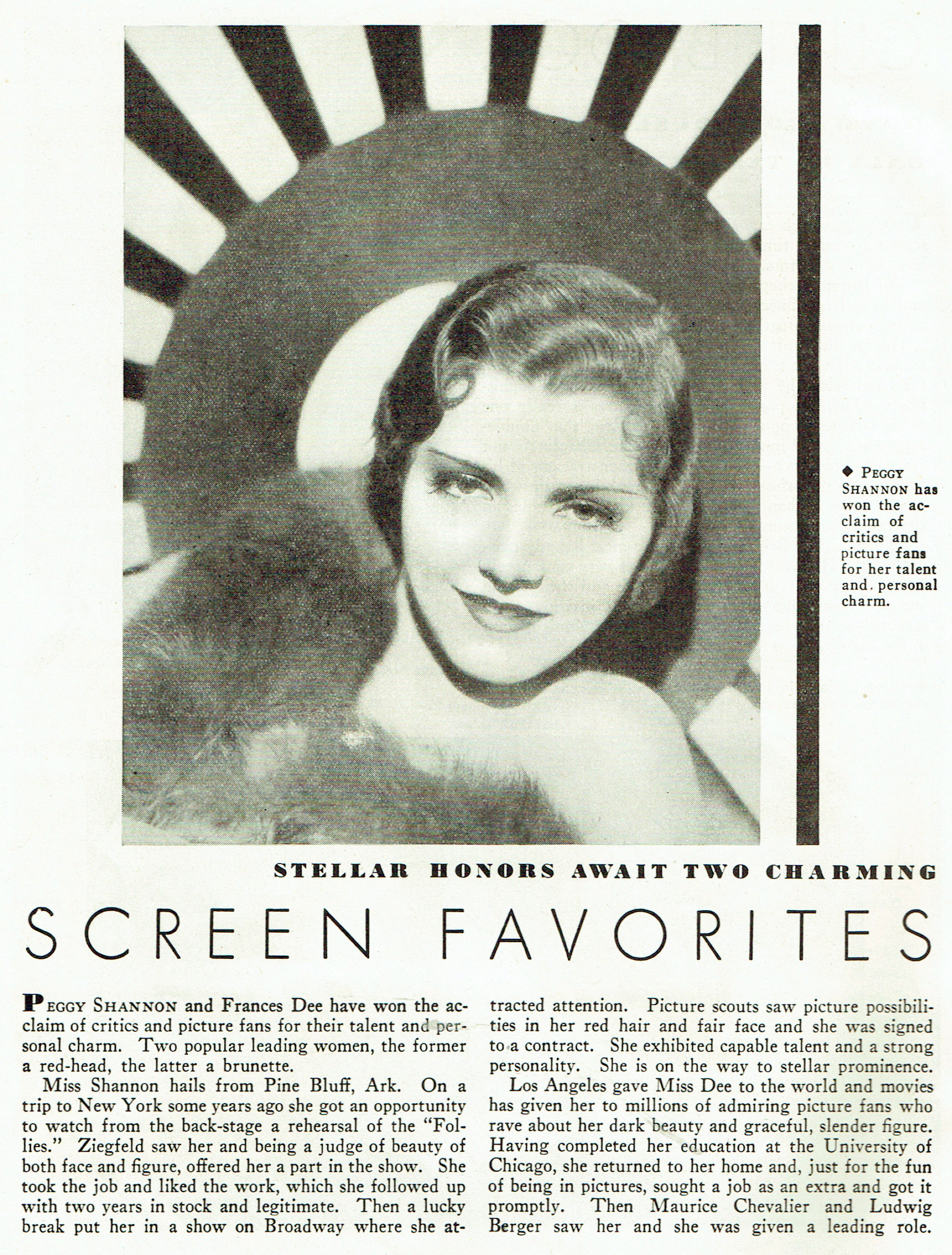 carole lombard publix theatre screen review april 1932na
