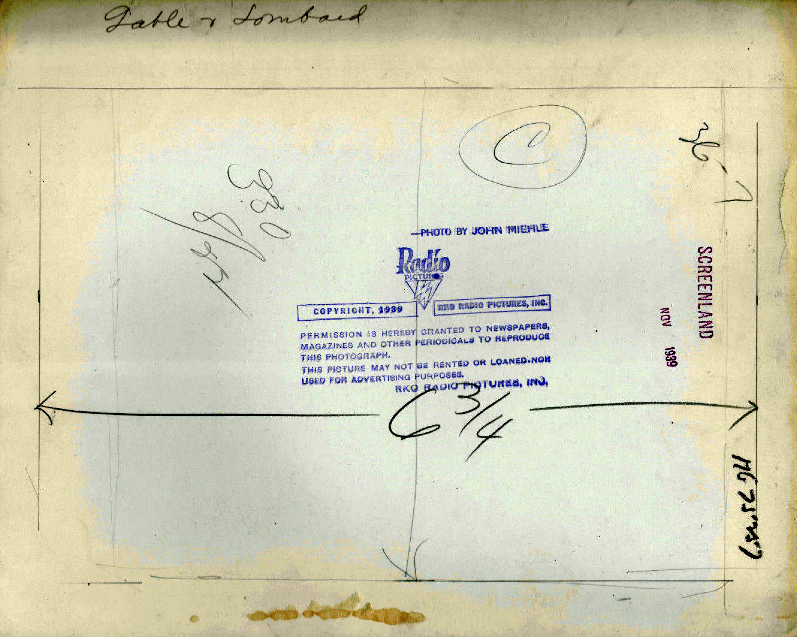carole lombard clark gable screenland november 1939a back
