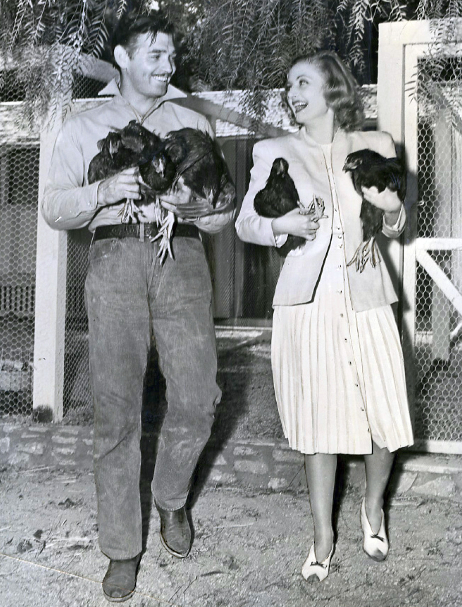 carole lombard clark gable chickens 081339b front