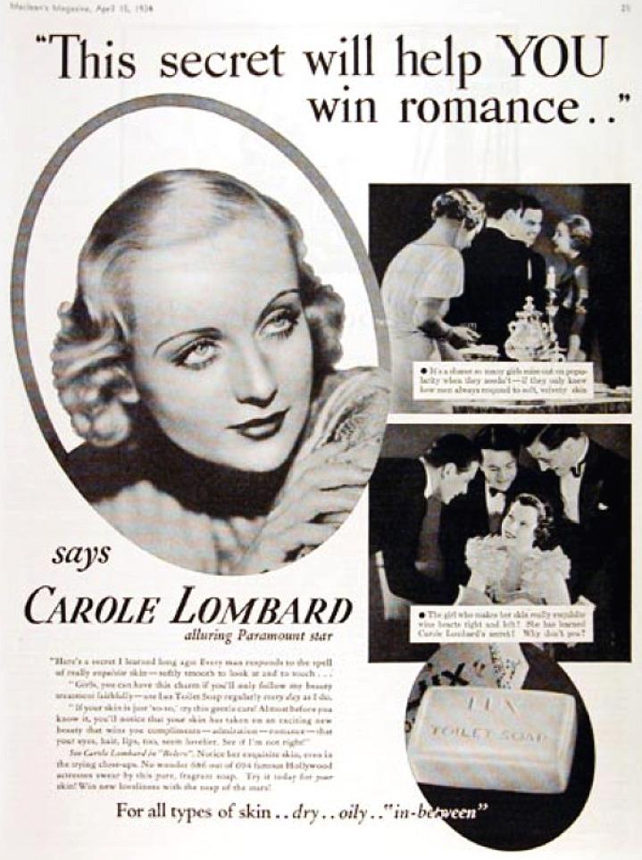 carole lombard lux ad 01c