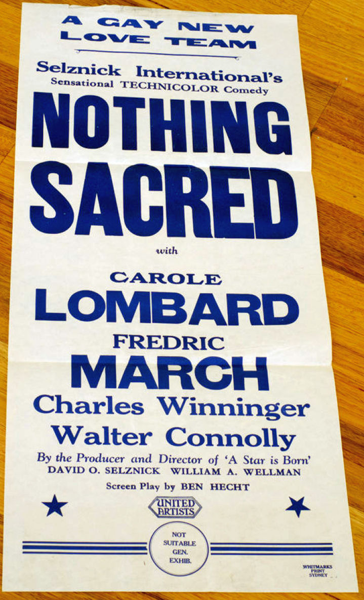 carole lombard nothing sacred poster australia 00a