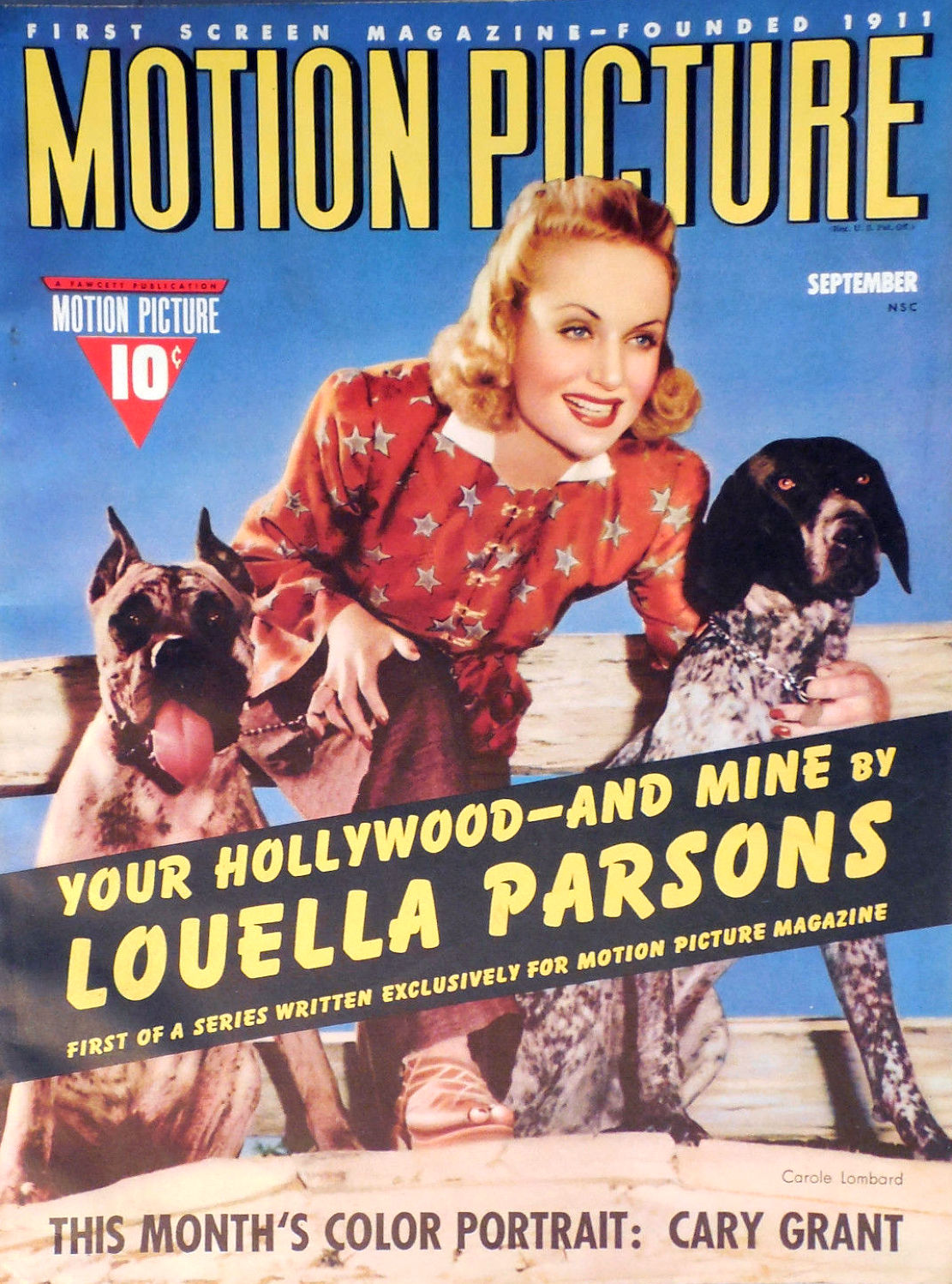 carole lombard motion picture september 1940ca