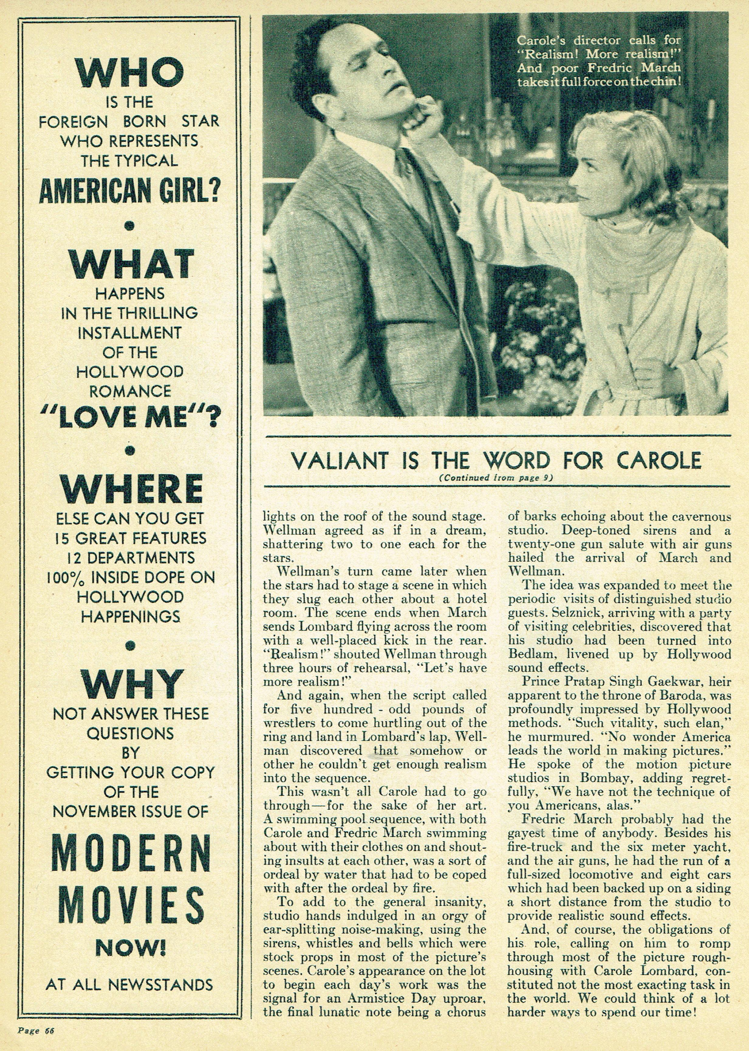 carole lombard movie life november 1937ca