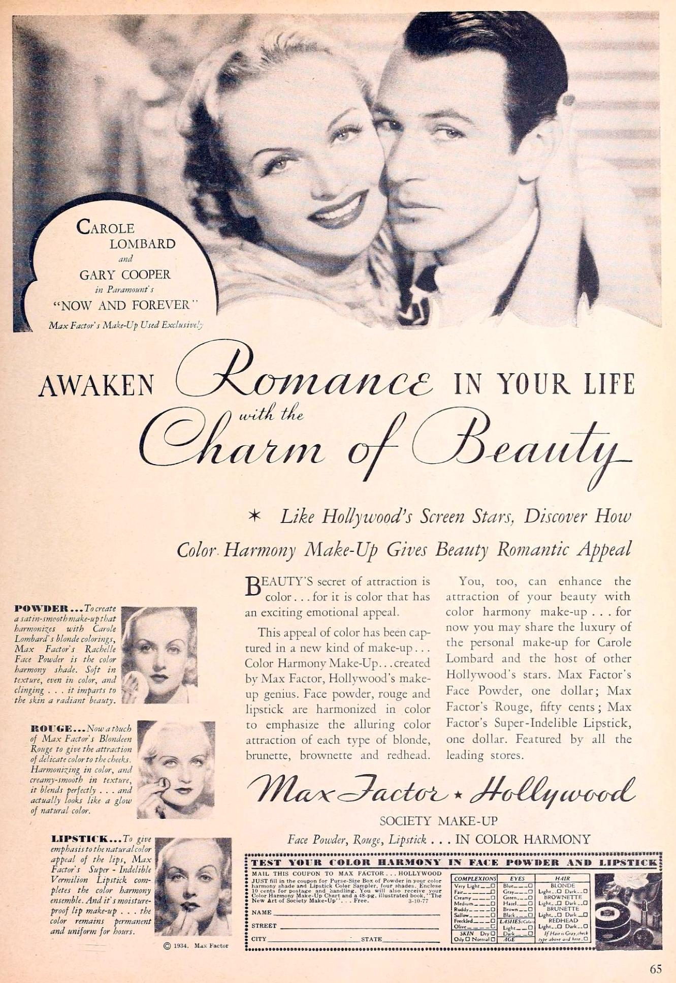carole lombard movie classic october 1934bb