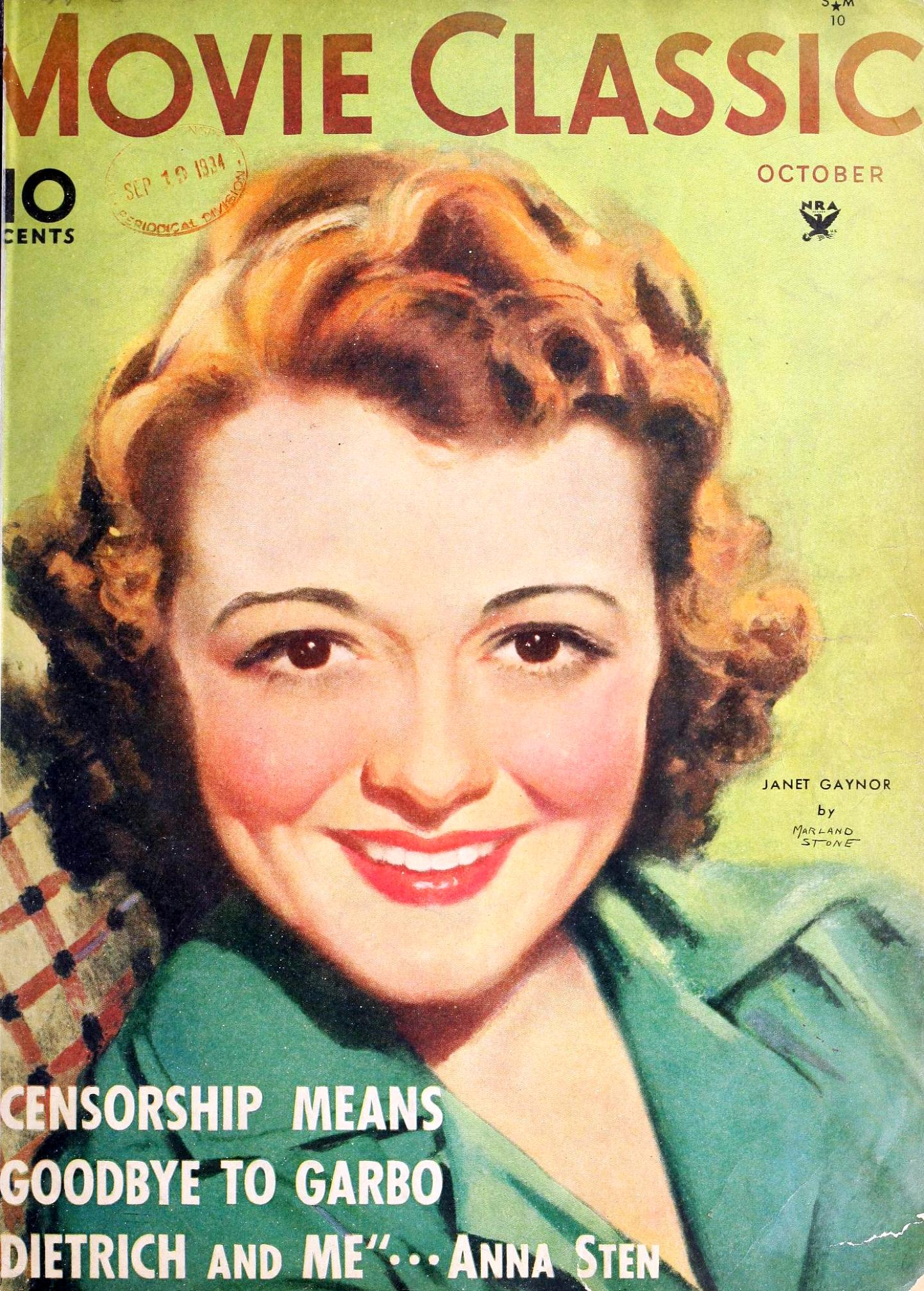 movie classic october 1934b cover