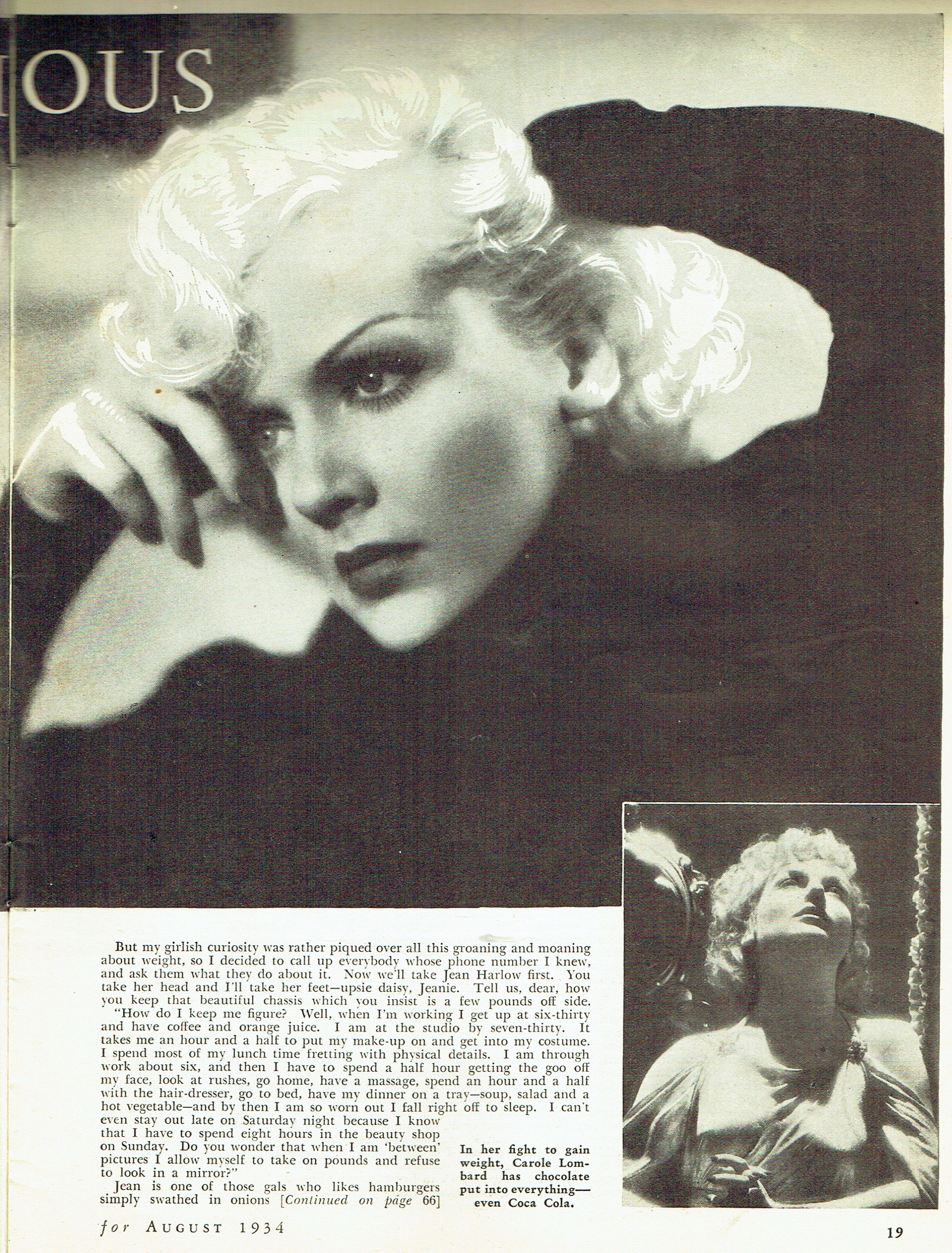 carole lombard silver screen august 1934ba