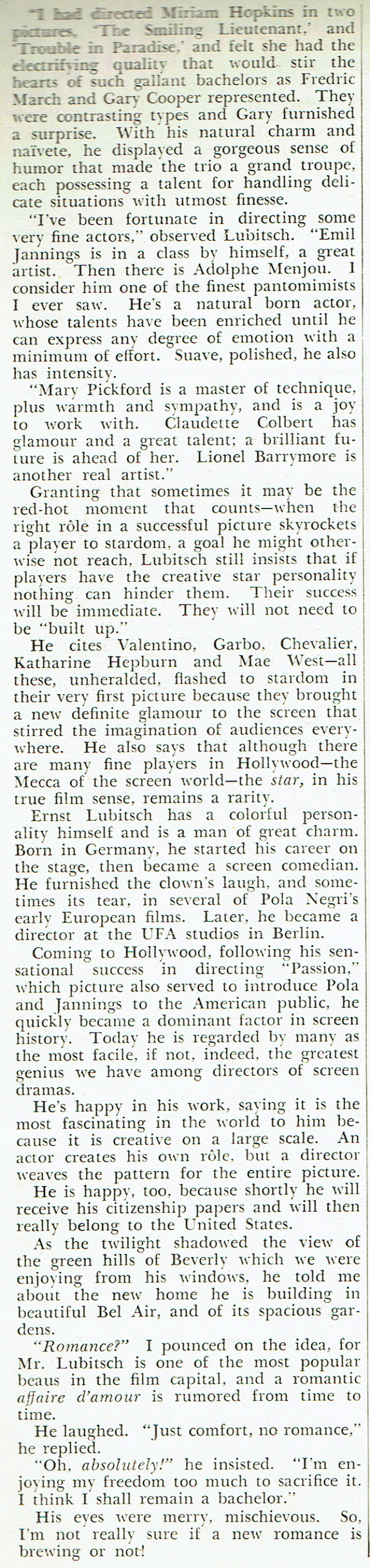 silver screen august 1934i