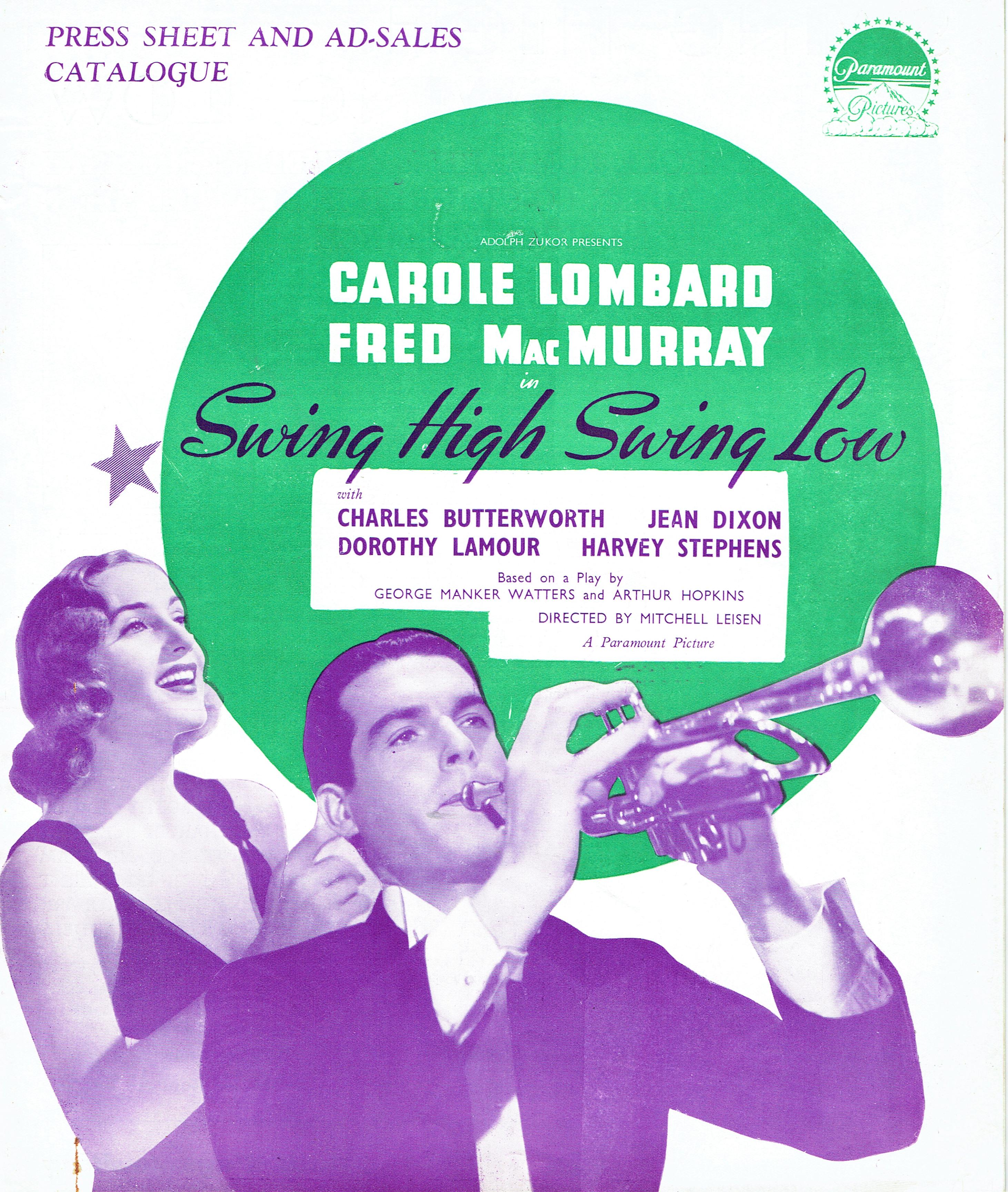 carole lombard swing high, swing low uk pressbook 00