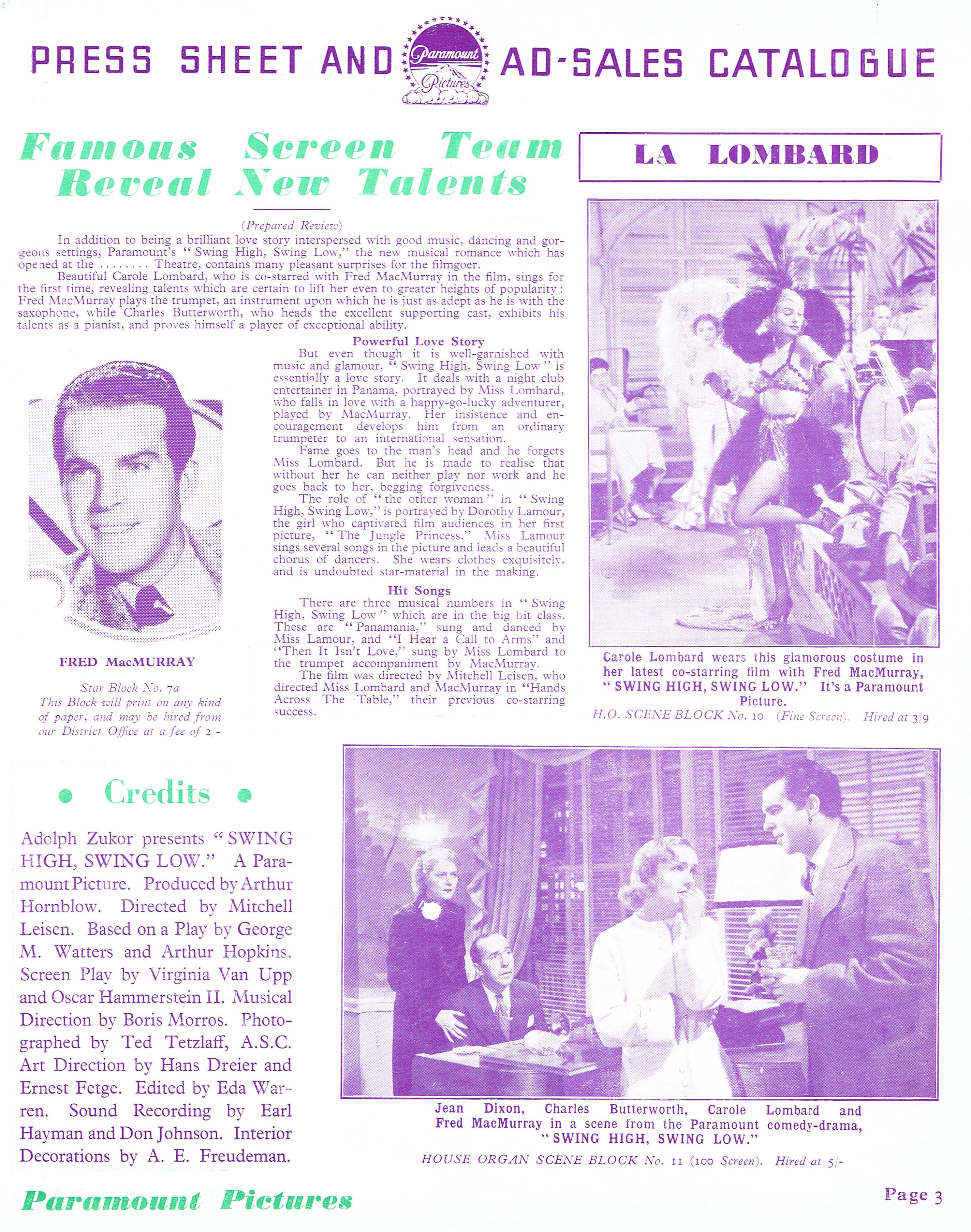 carole lombard swing high, swing low uk pressbook 02