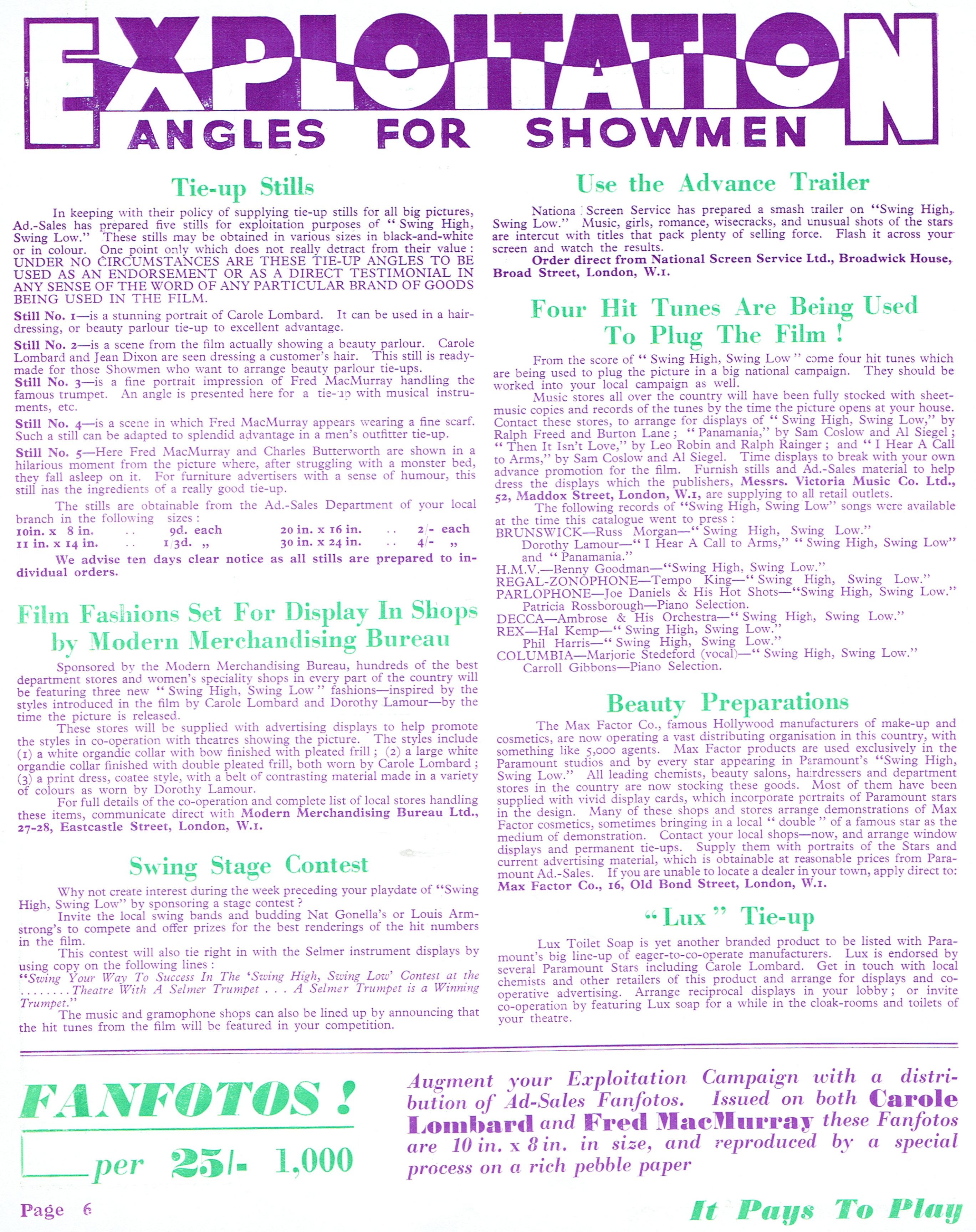 carole lombard swing high, swing low uk pressbook 05