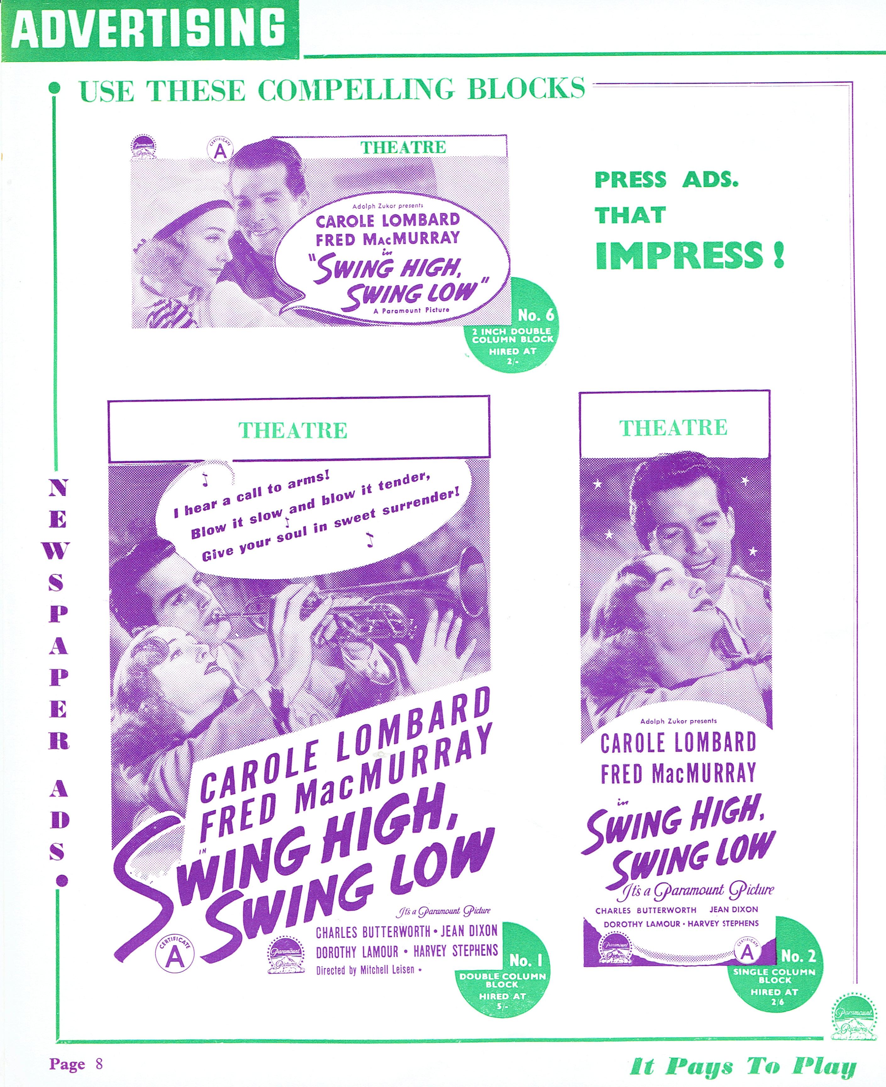 carole lombard swing high, swing low uk pressbook 07