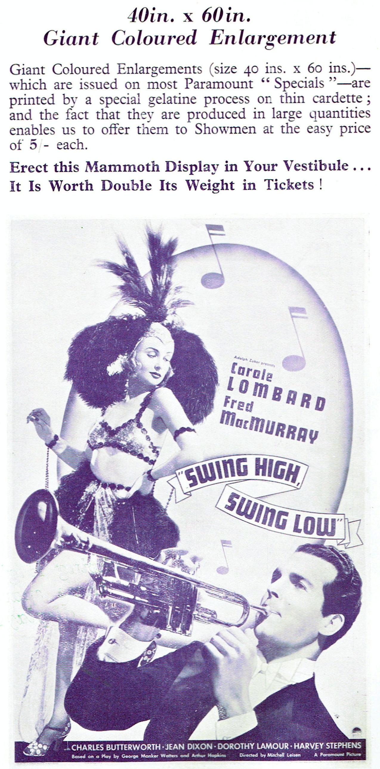 carole lombard swing high, swing low uk pressbook 09a