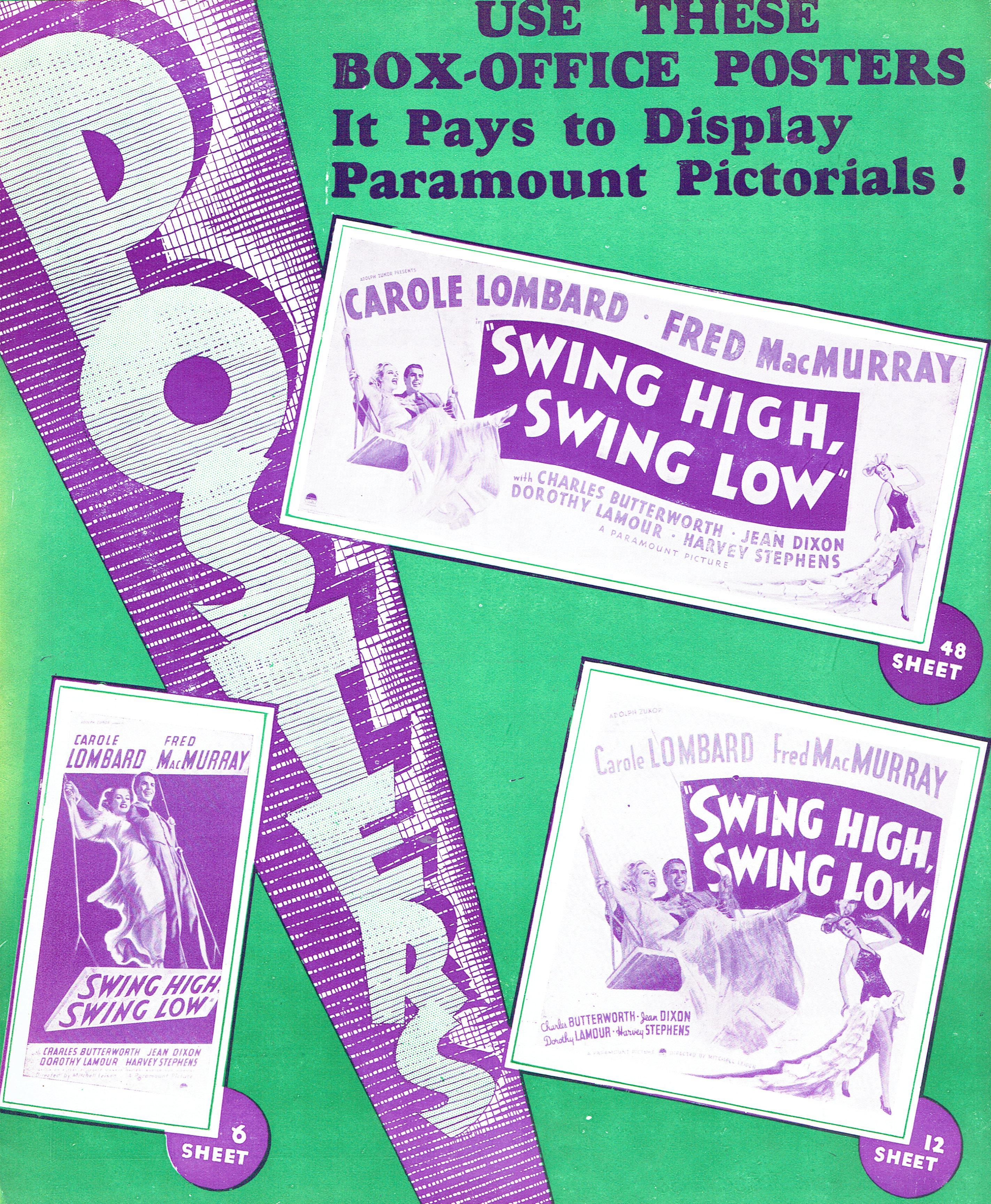 carole lombard swing high, swing low uk pressbook 11