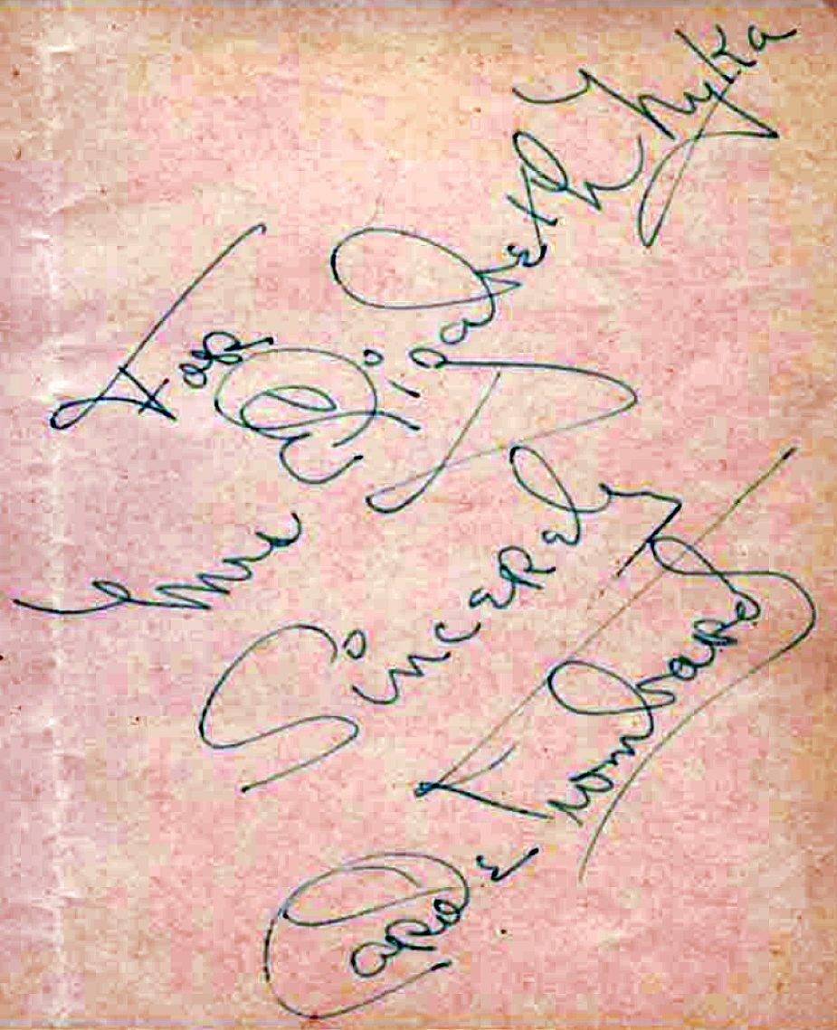 carole lombard autograph 88b