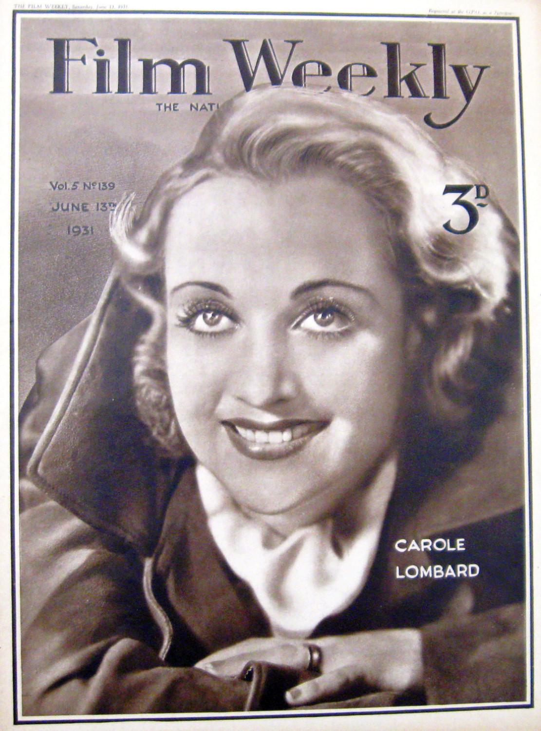 carole lombard film weekly 061331aa
