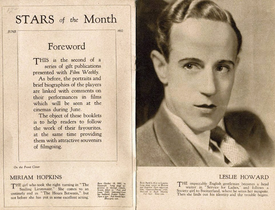 film weekly stars of the month june 1932ab