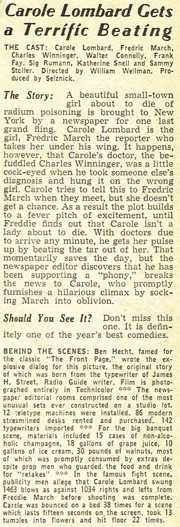 carole lombard screen guide january 1938ga