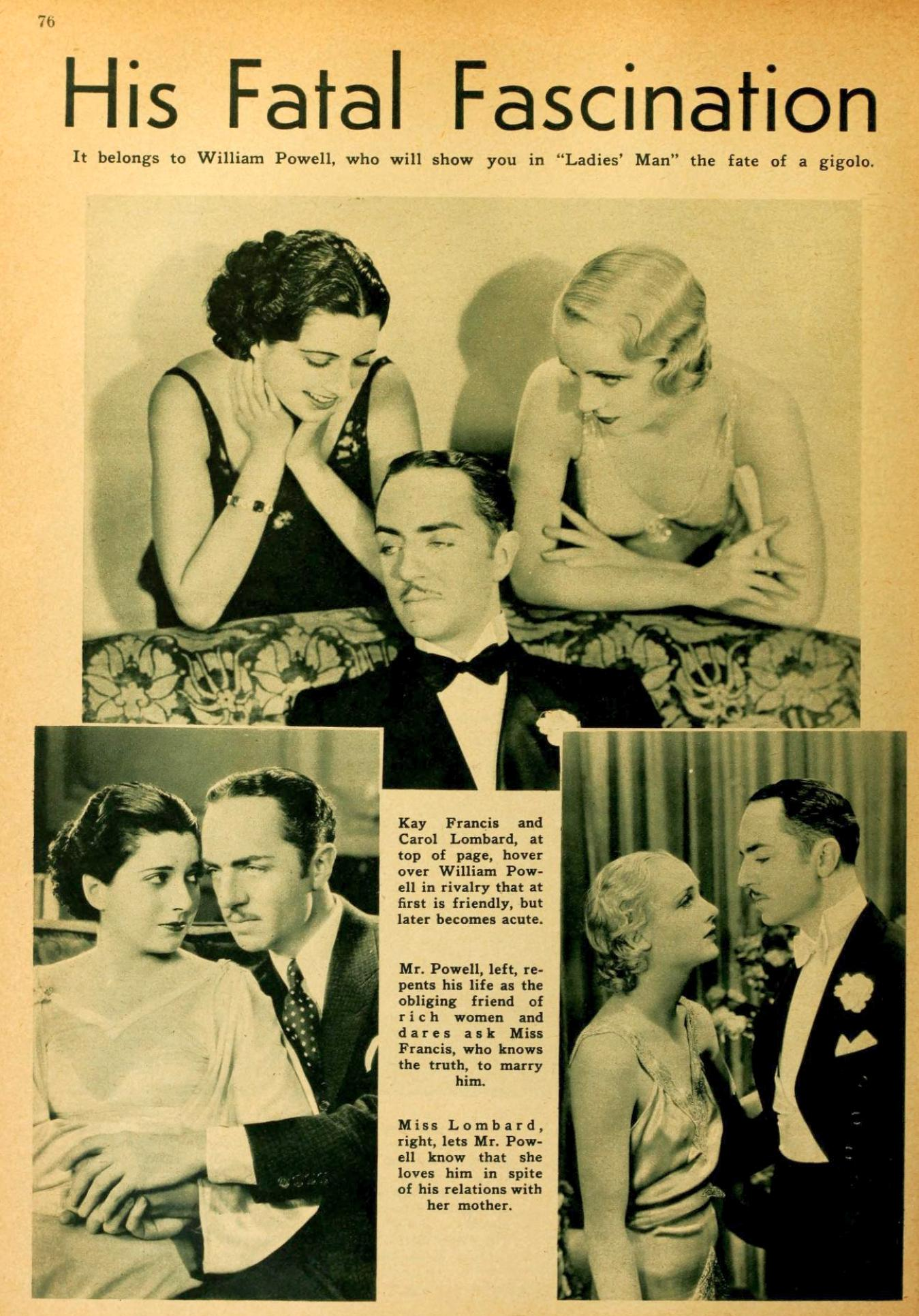 carole lombard picture play april 1931a his fatal fascination