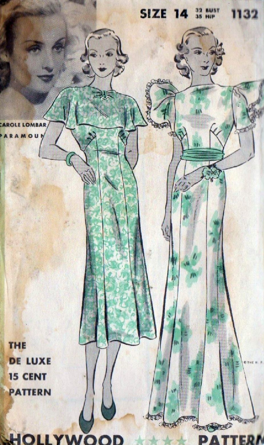 carole lombard hollywood pattern 1132a
