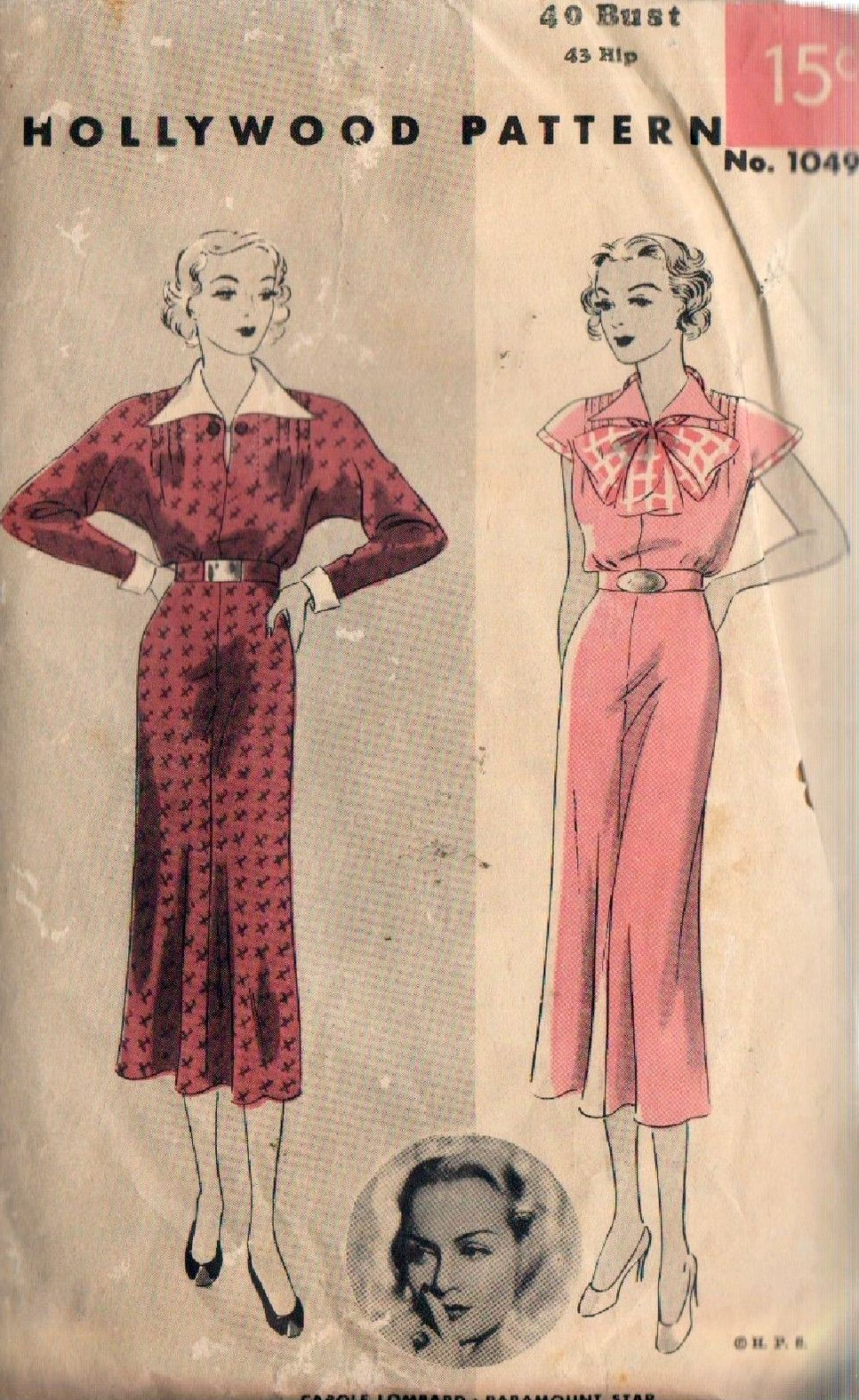 carole lombard hollywood pattern 1049b
