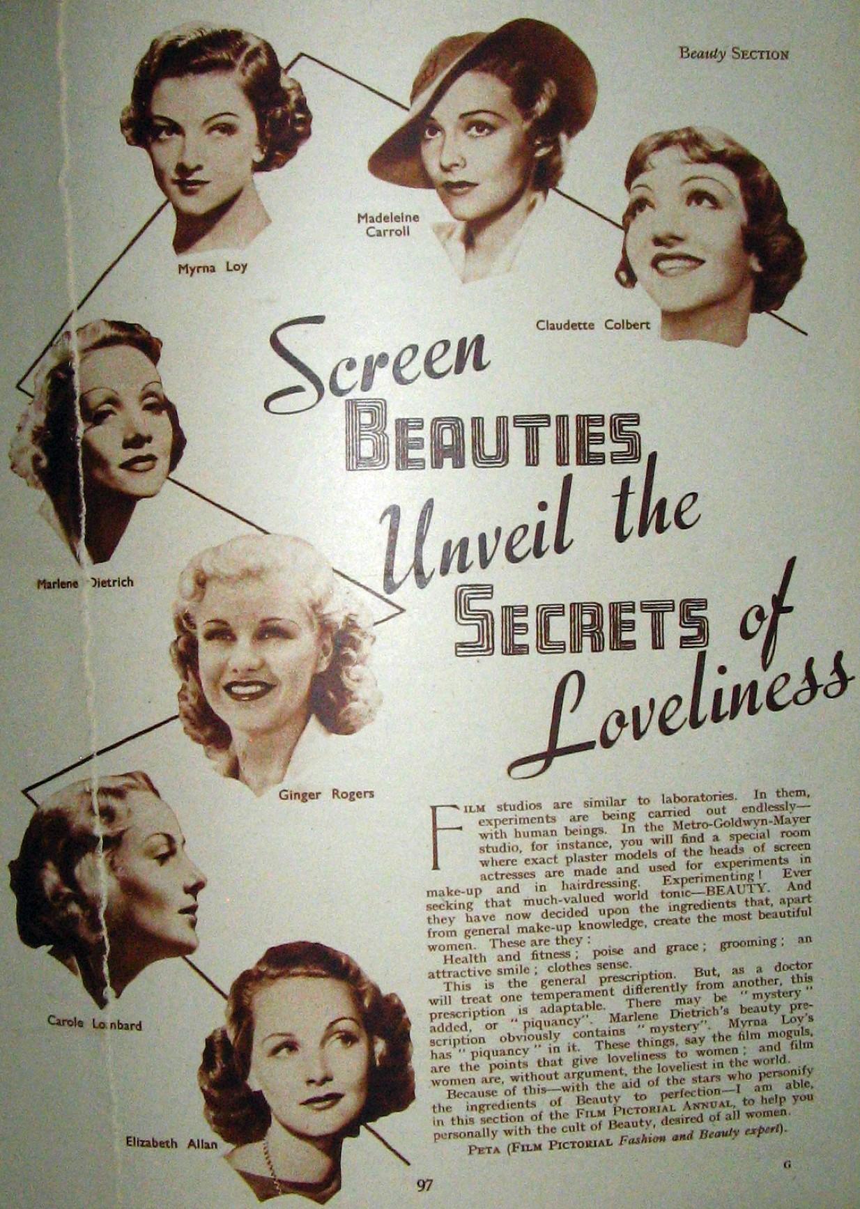 carole lombard film pictorial annual 1937ab