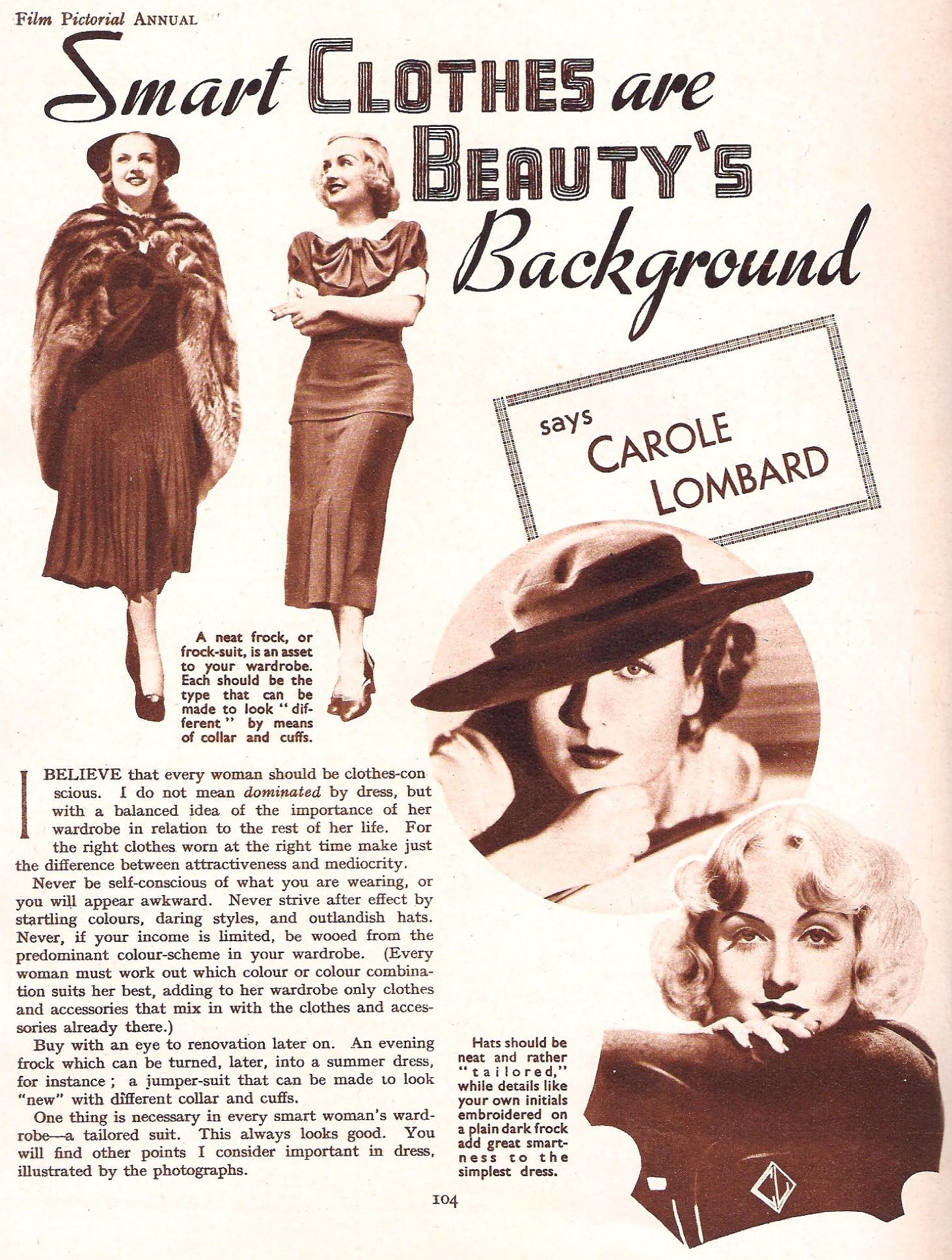 carole lombard film pictorial annual 1937ba