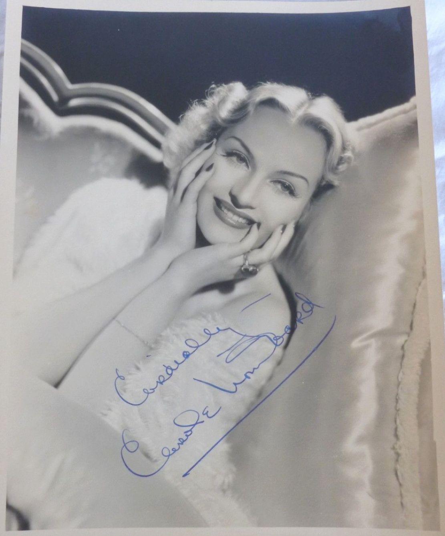 carole lombard autograph 89a