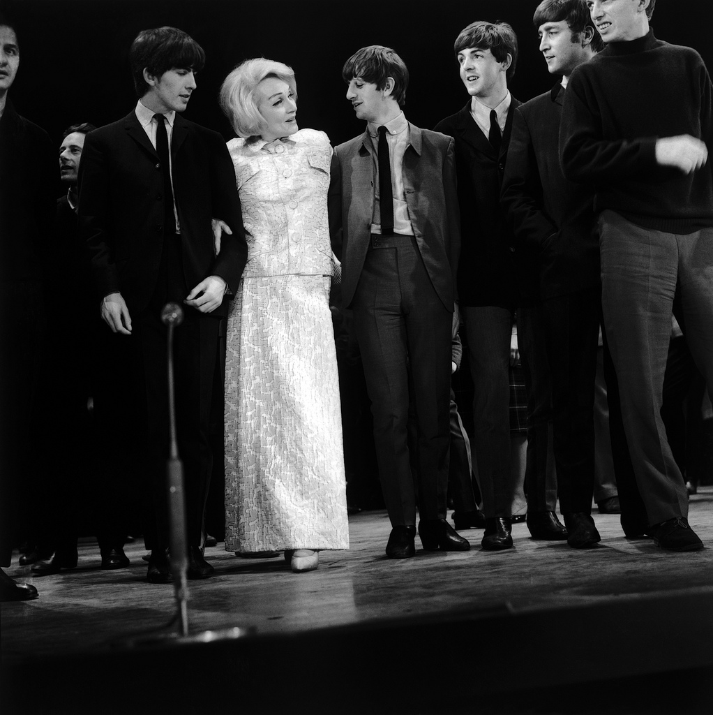 marlene dietrich with the beatles 1963