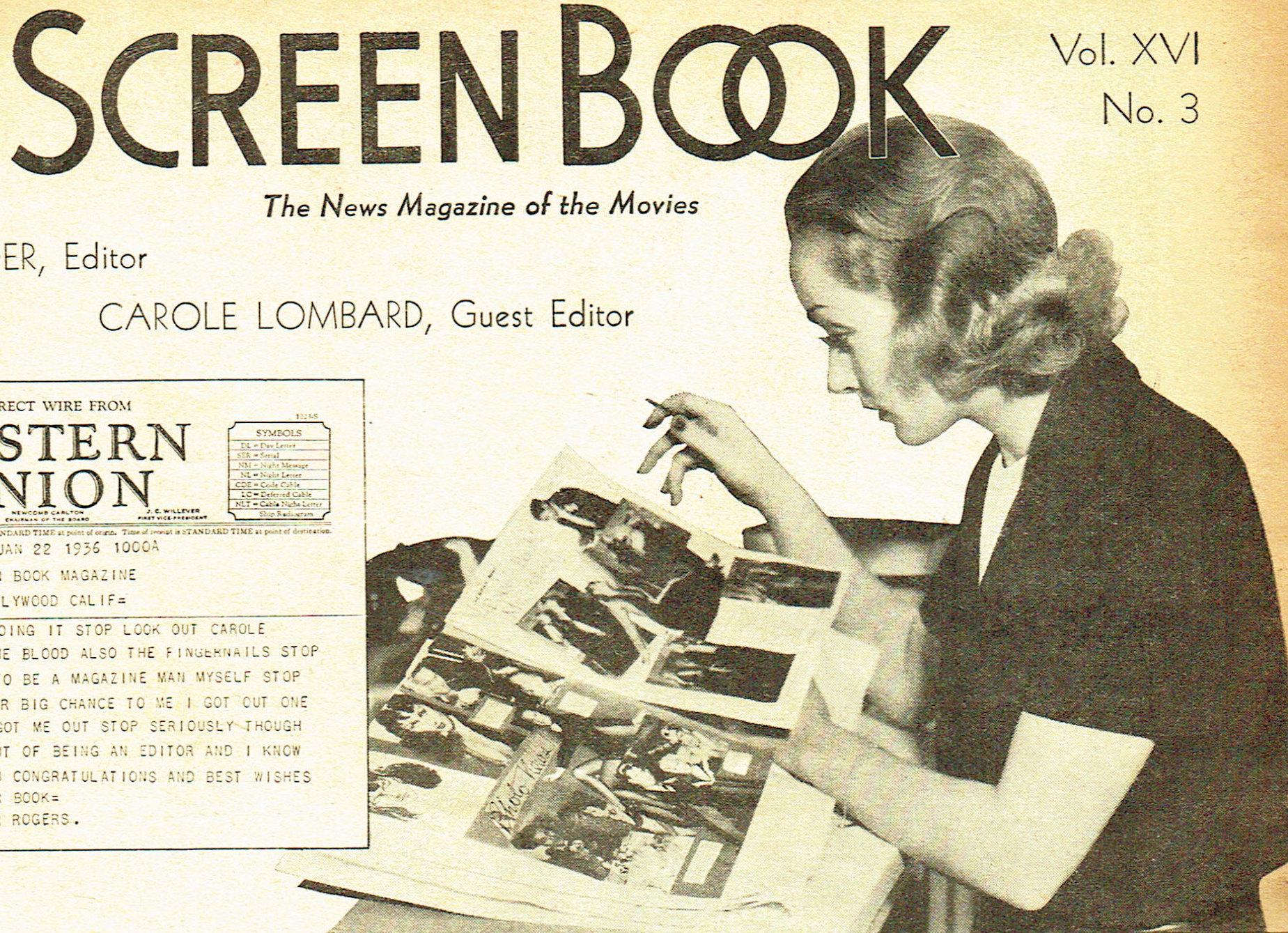 carole lombard screen book april 1936aa