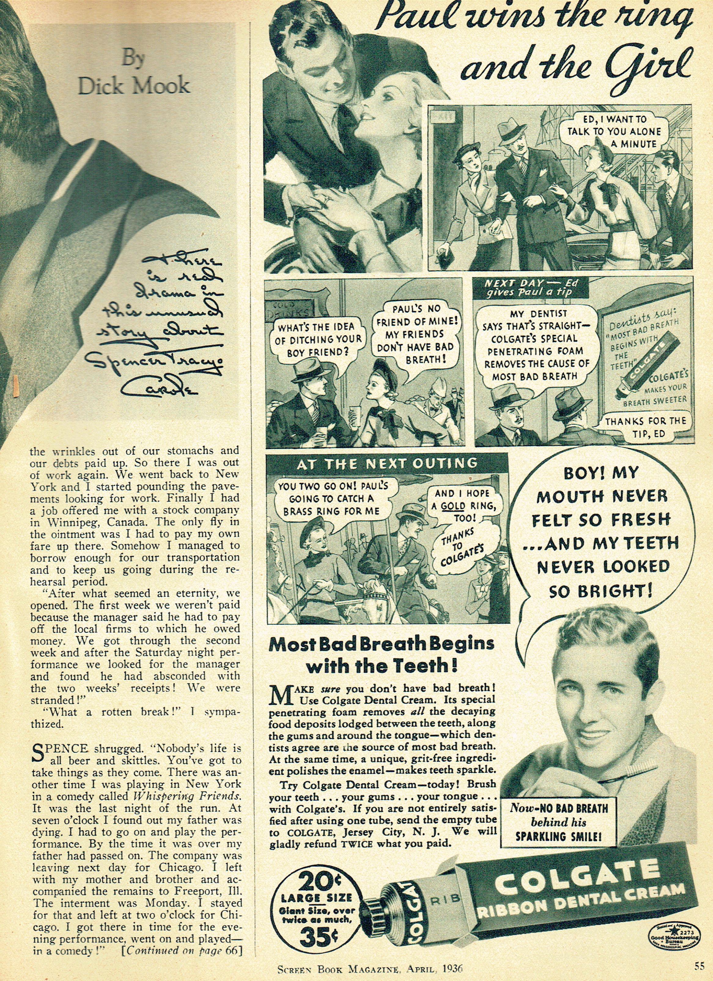 carole lombard screen book april 1936ua