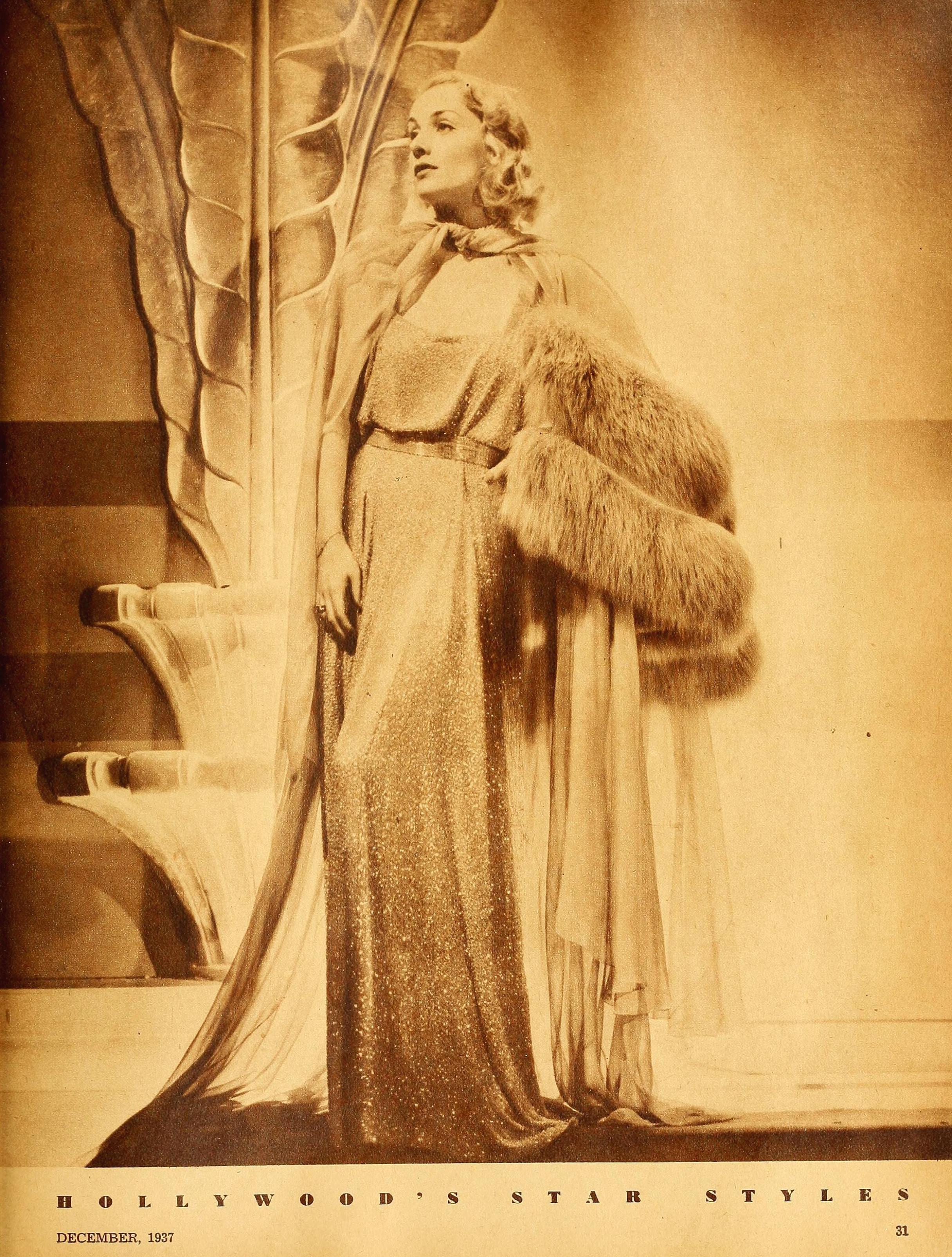carole lombard hollywood december 1937ca