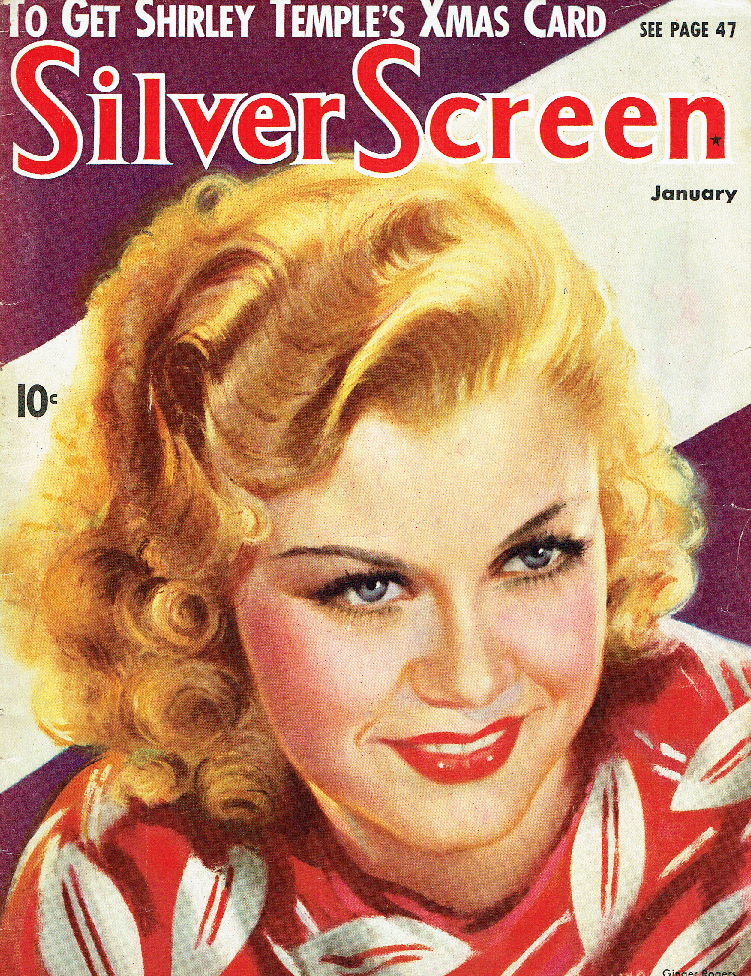 silver screen january 1936 cover