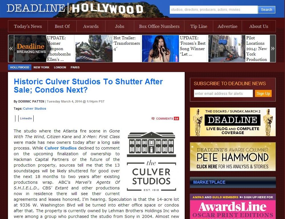 culver studios deadline hollywood 030414