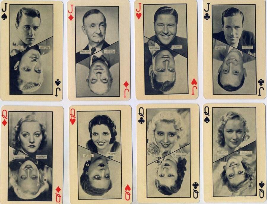 carole lombard 1932 olympics playing cards 00c
